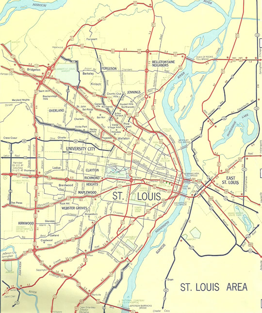 Street Map Downtown St Louis Mo