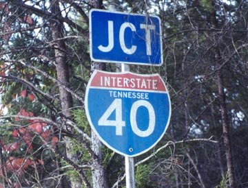 Tennessee interstate 40 sign.