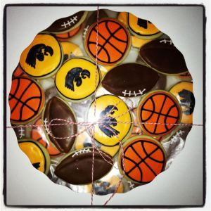 University of Iowa Sports Cookies