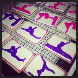 Gymnastics Cookies for a Party by Amy Lynn Events
