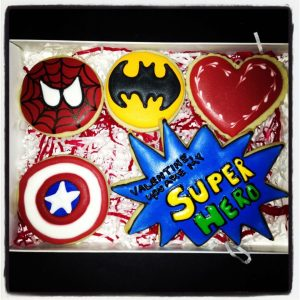 Super Hero Cookies Valentine Gift Box