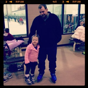 Averie and Daddy are Ready to Ice Skate