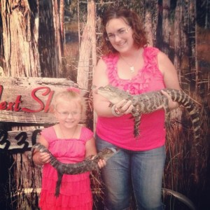 She made me hold an alligator!
