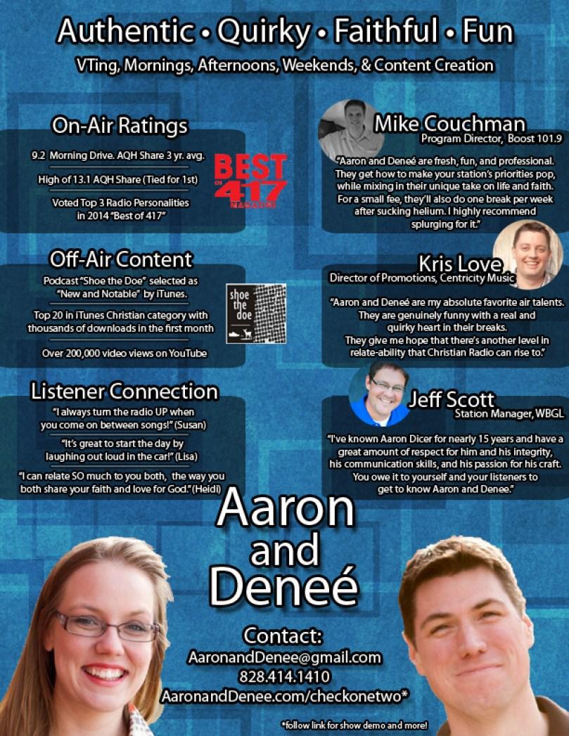 Aaron and Denee One Sheet
