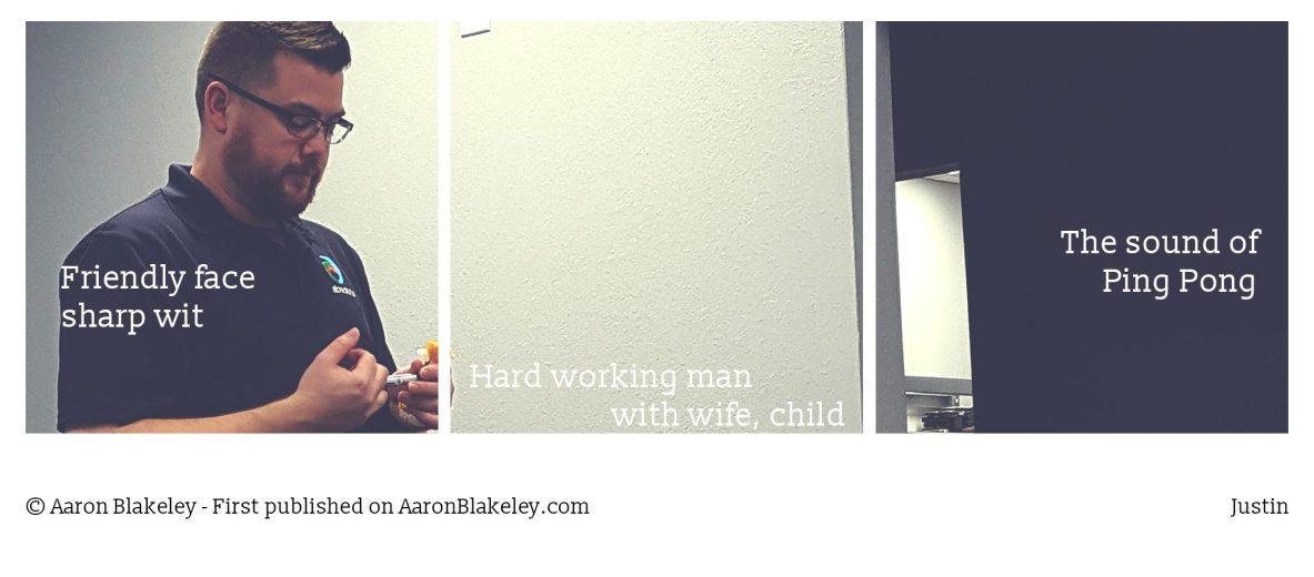 Justin - Aaron Blakeley - The Daily Haiku Webcomic - Longview Texas Blogger