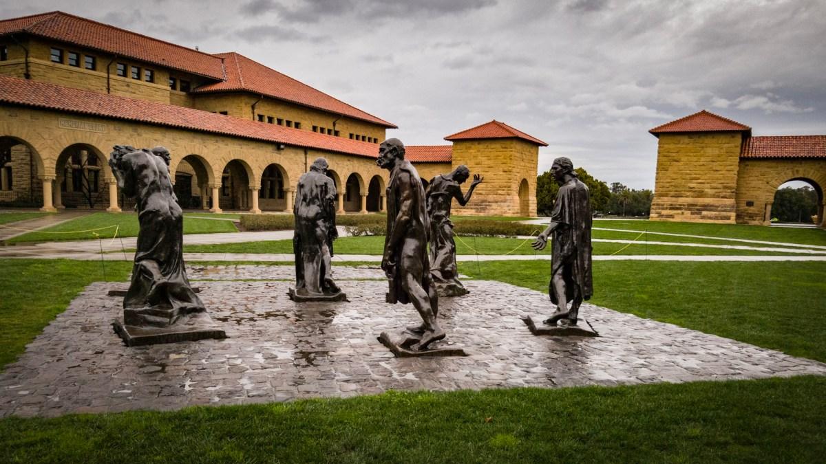 Rodin sculptures in the rain