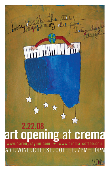 Crema Art Opening Next Friday Night!