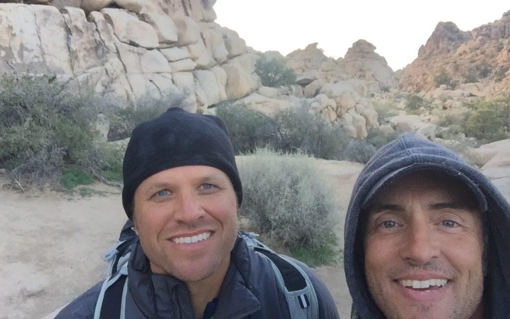 Jake Shumate and I finishing our day climbing at Joshua Tree National Park