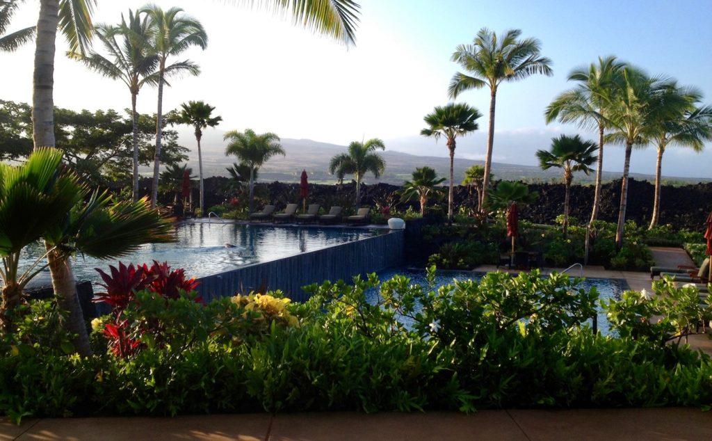 Kukio's south pool at dawn