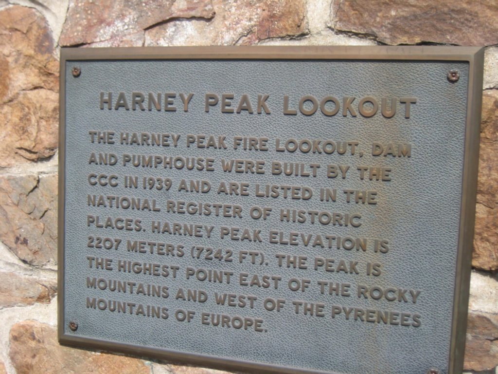 The history of Harney Peak's fire lookout tower built in 1929