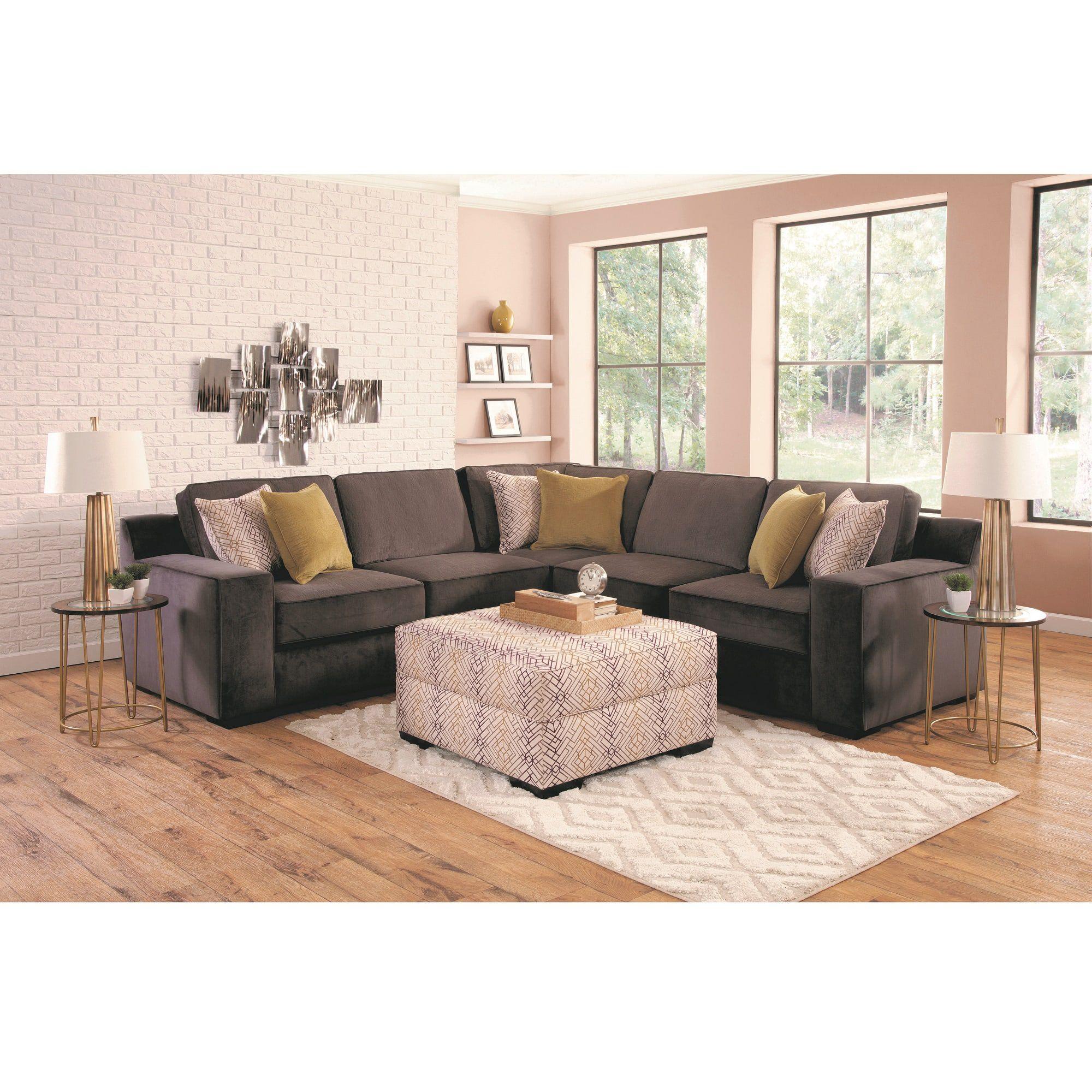 Woodhaven Industries Sectionals 4 Piece Sonja Living Room
