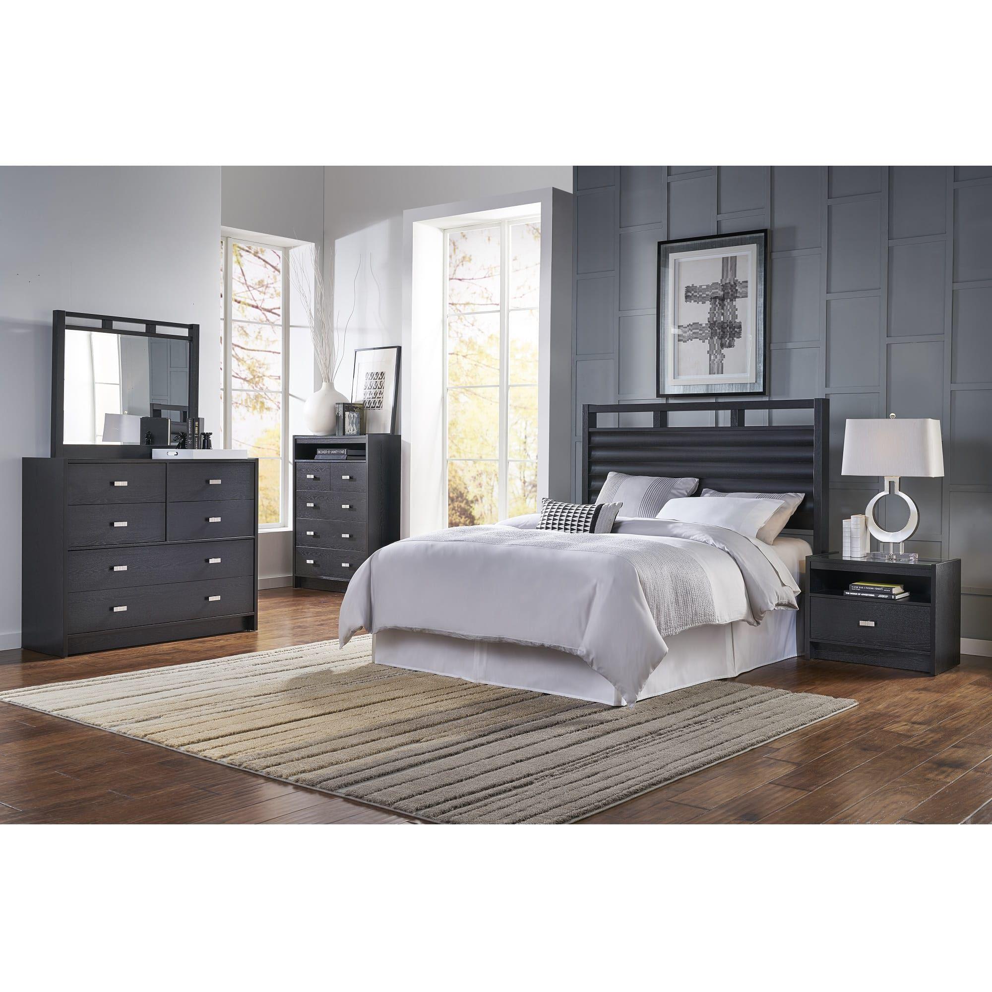 Buy asheville 5 piece bedroom set, queen, gray wood, modern (panel bed, dresser, mirror, chest, 1 nightstand) at walmart.com. Ideaitalia Bedroom Sets 5-Piece Soho Queen Bedroom Collection