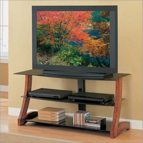Whalen Entertainment Centers 50 Wood Amp Glass TV Stand