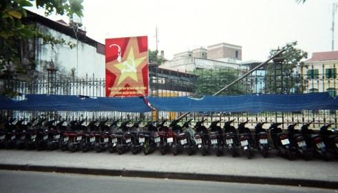 Motorbikes & Communist Paraphanelia in Hanoi