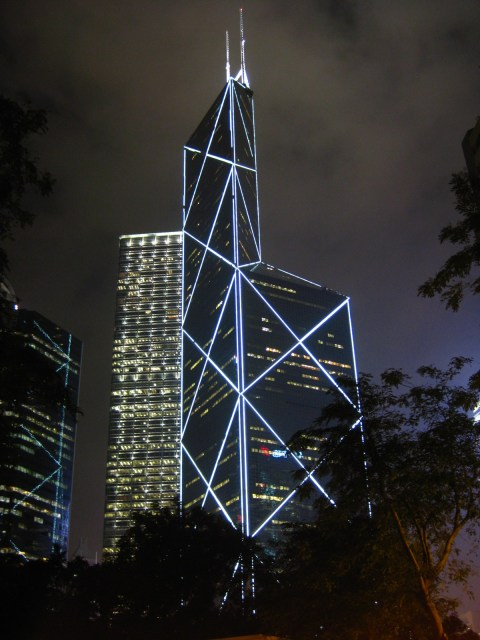 Bank of China Tower at Night