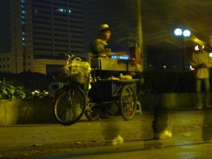 Roasting Meat Over Bicycle Fire, Guangzhou