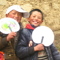Tibetan Kids in Litang, Sichuan Province, China