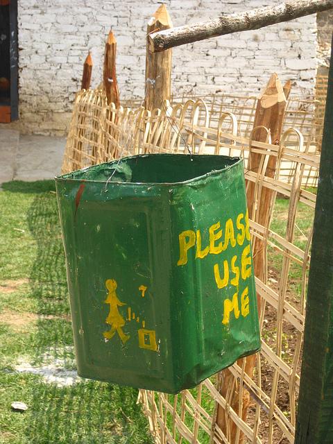 Bhutanese Trash Can