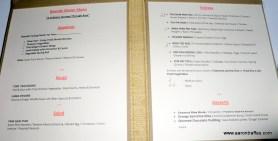 Bayside menu
