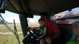 Teaching Nolan to drive