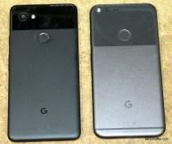 Pixel 2 XL, left; Pixel XL, right