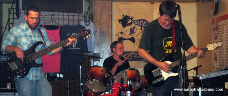 Aaron Traffas Band plays at Mike's Sports Bar in Medicine Lodge, Kan.
