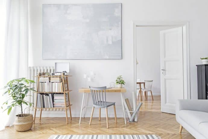 white space with big picture on the wall - 5 rules in Interior Design that we are begging you to break!