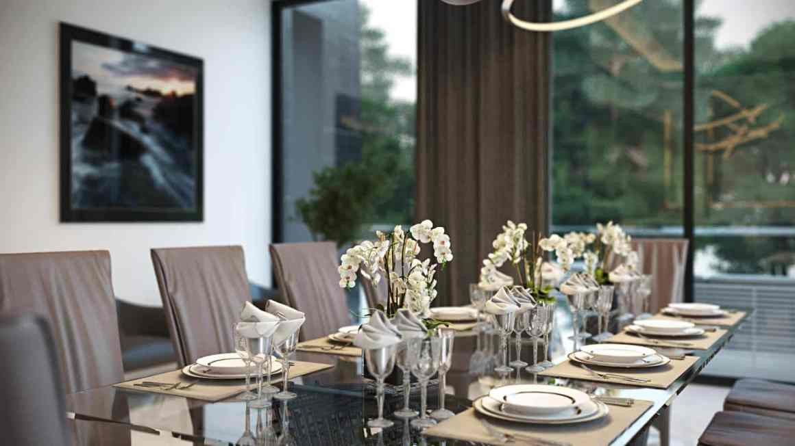 Dining room with external view - 5 marketing tips for an Interior Designer