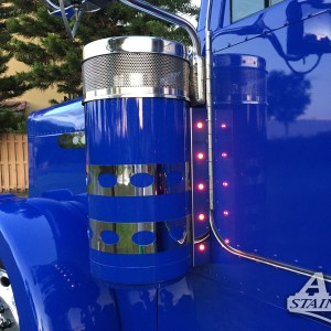 Air Cleaner Bar 5 LED 3/4. Back for Peterbilt 370 Series  Part #: 010106.1.1.1542$265 /pair