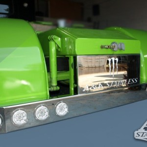 "T Bumper Universal Rear 19"" SS 8 LED 4""  (Lights not Included) - CUSTOM LOGO Part#: 000008.1.1.484  Call For Price!"