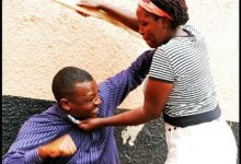 Photo of Man gets a serious beating from wife for re-uniting with ex wife