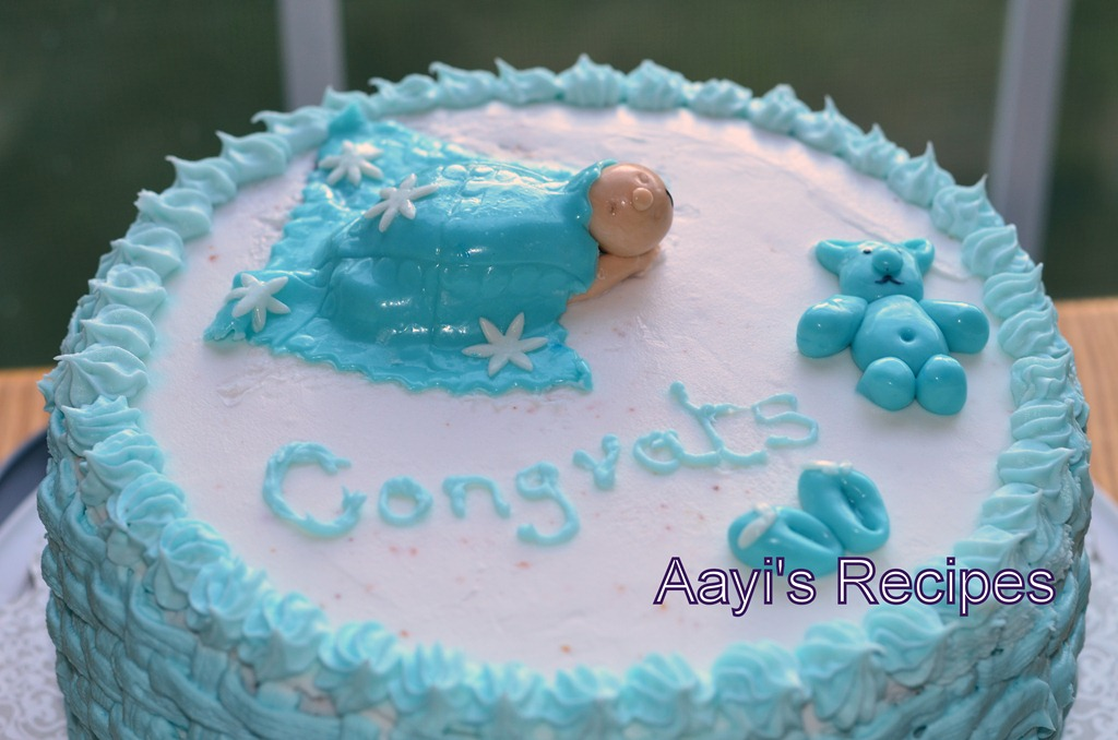 Cake Baby Shower Recipes : Sleeping Baby Under Blanket - Baby Shower Cake - Aayis Recipes