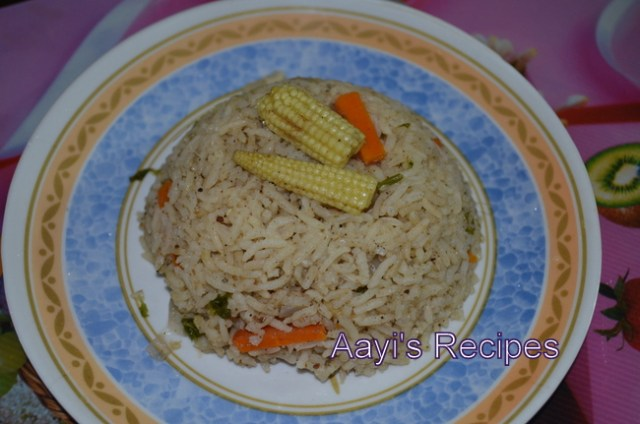 veg pulav with babycorn