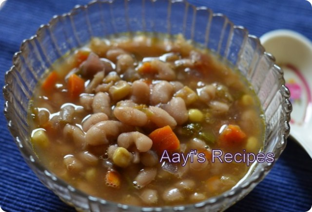 white bean veg chili
