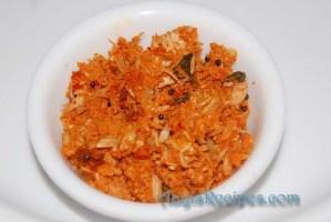 Raw jackfruit sidedish (Kadgi chakko/kadgi sushal)