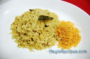 Potato poha (Batate phovu)