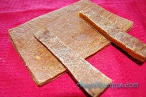 Dried mango pulp(Ambe saTh or mambaLa)