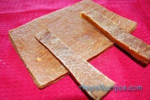 Dried mango pulp(Ambe saTh or mambaLa)