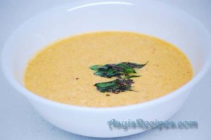 Fenugreek-yogurt gravy (Menthe tambli)