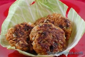 Cabbage-coriander vada
