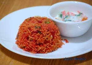 Beetroot-Spinach Pulav