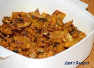 Eggplant-Potato Sidedish