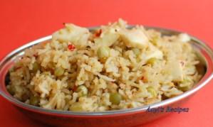 Dried Green Peas Pulav