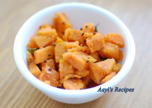 Sweet Potato Stir Fry (Kananga Talasani)