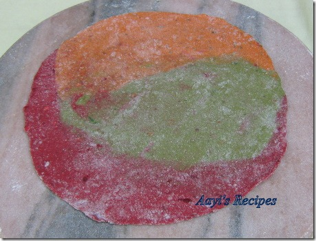 tricolor chapatis8