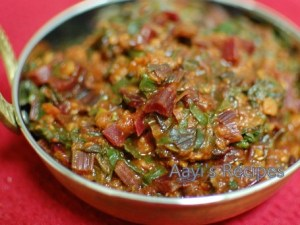 Beetroot Leaves – Masoor Dal Sidedish