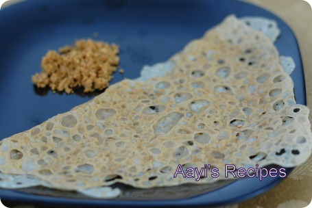 wheat flour-rice flour dosa