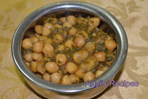 Chickpeas with Fenugreek (Methi Chole)