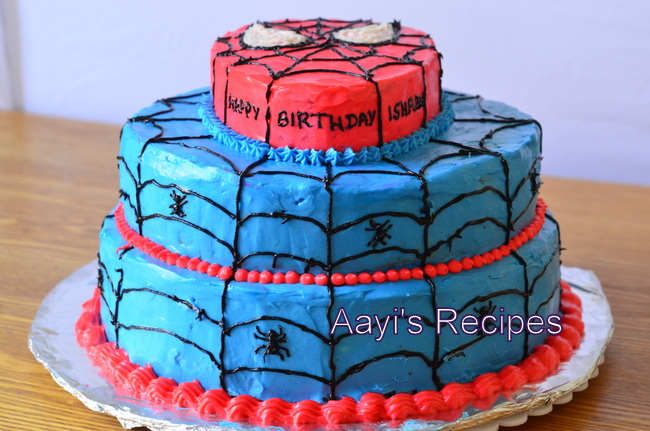 Spiderman Cake Aayis Recipes