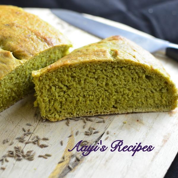 spinach-cumin seed bread17